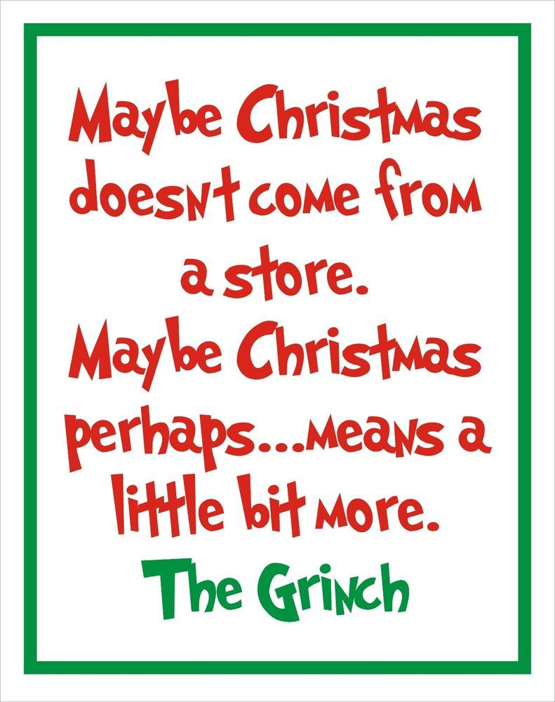 Grinch Christmas Doesnt Come From A Box Quote Outdoor Indoor Lawn Yard Art Sign