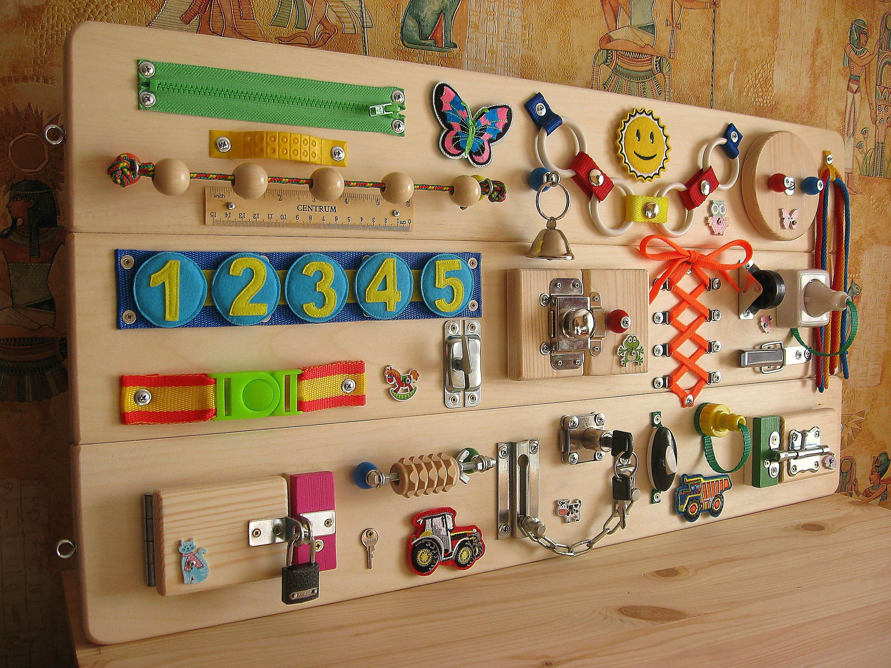 Busy Board With Felt Removable Numbers Sensory Children Etsy