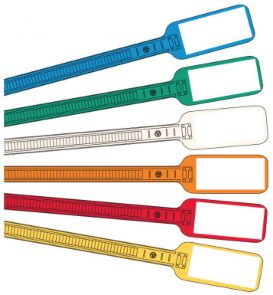 "693d48db6 The 6"" Write-On Flag Cable Tie is ideal for use in a wide range of cable  and wire identification applications!"