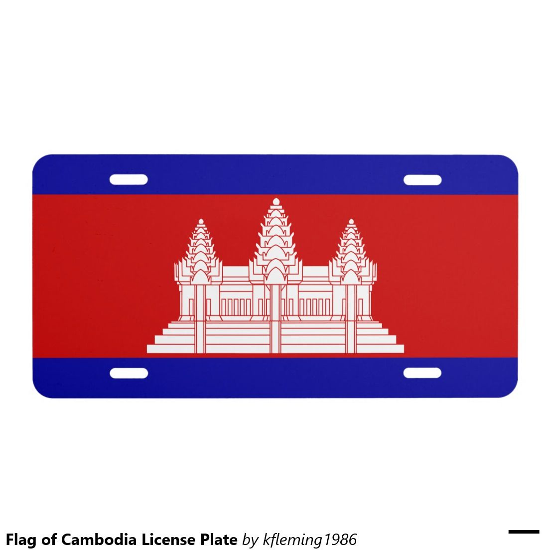 Flag of Cambodia License Plate