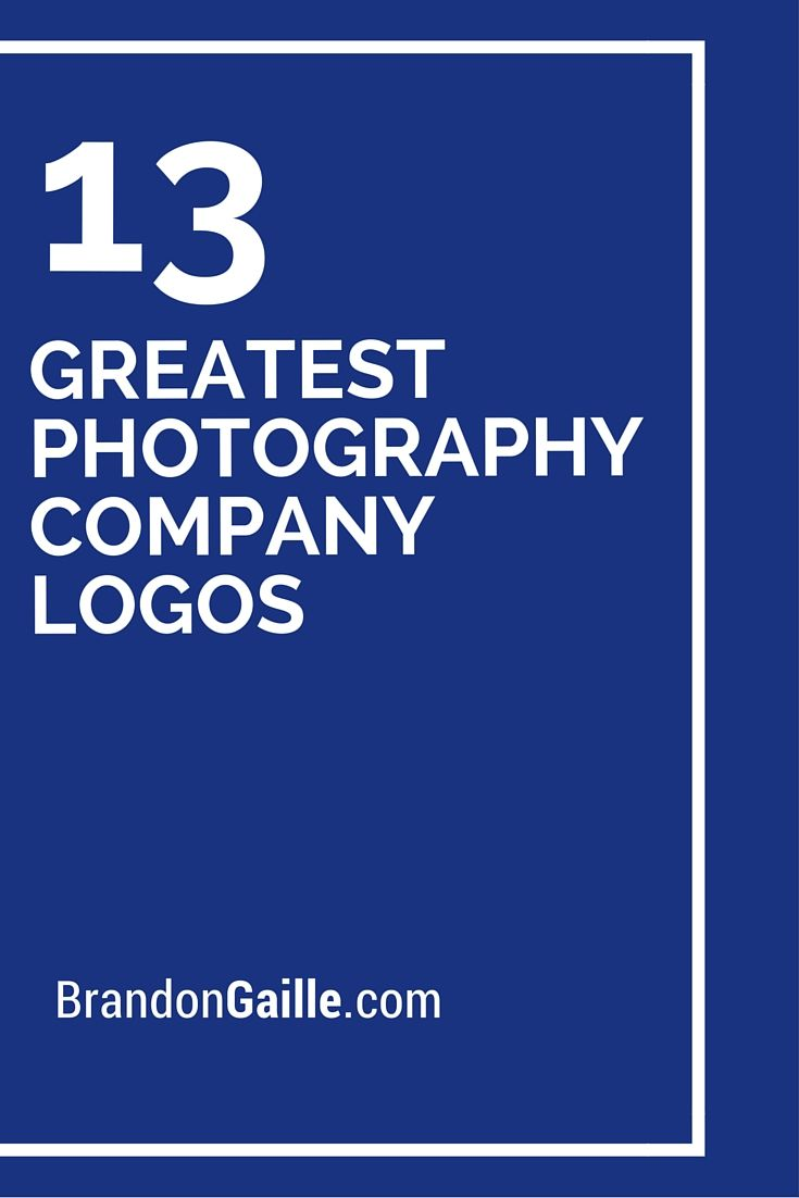 13 greatest photography company logos of all-time | logos and names