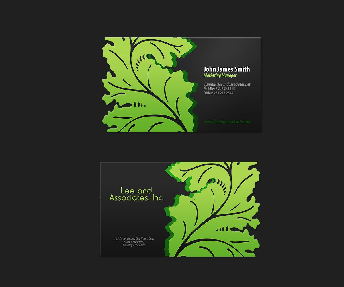 20 Awesome Business Card Ideas For Landscaping Pics Business Cards