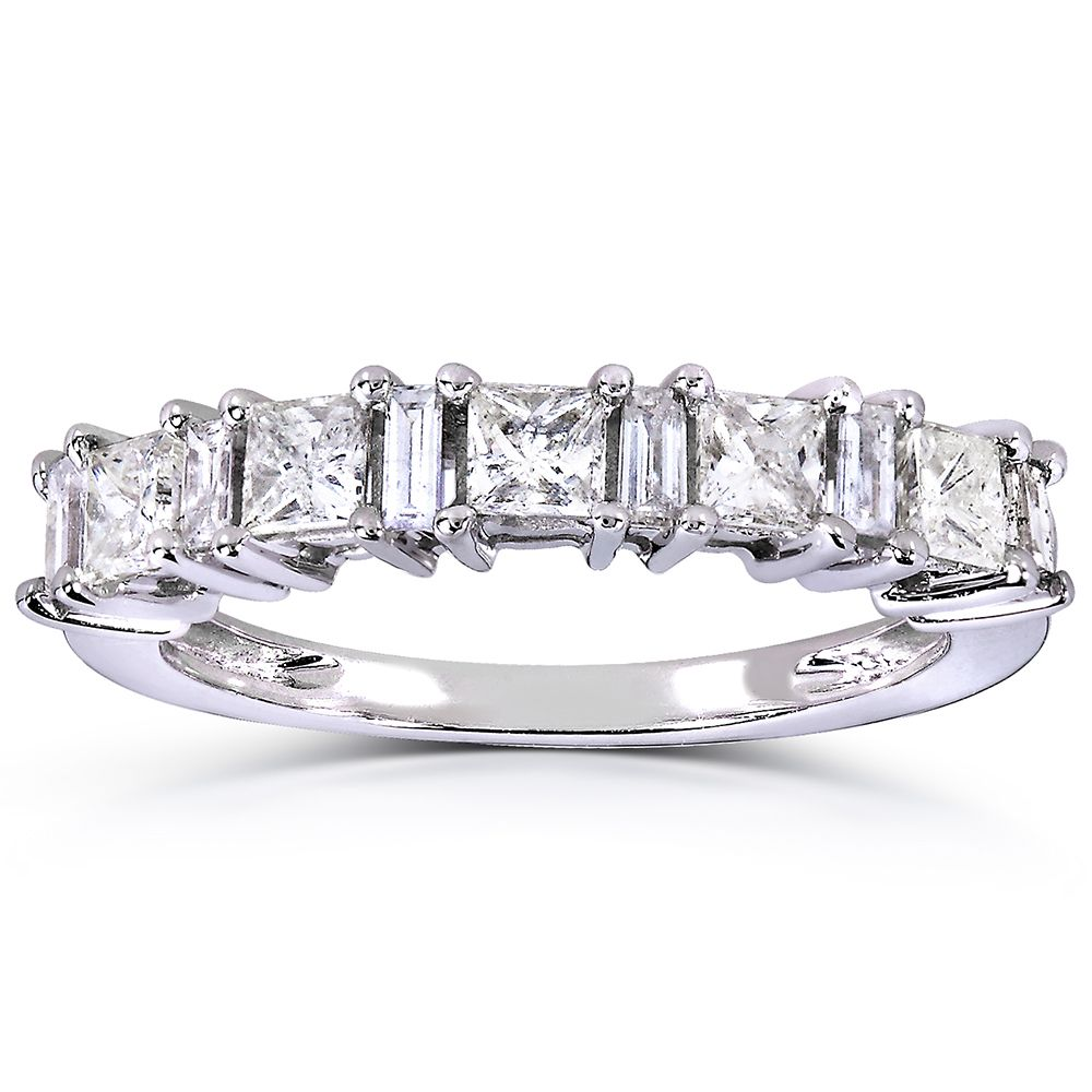 Annello by Kobelli 14k White Gold 3/4ct TDW Princess and