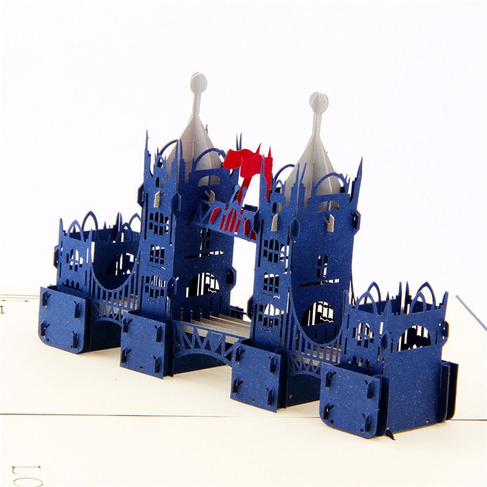 London Tower Bridge 3d Pop Up Greeting Card Products
