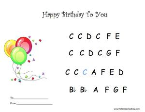 Printables Happy Birthday Piano Learn Piano Piano Lessons
