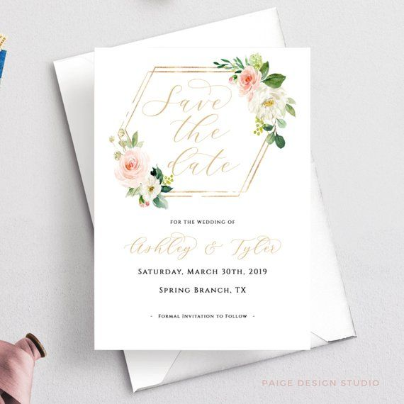 save the date template  instant download  diy  printable