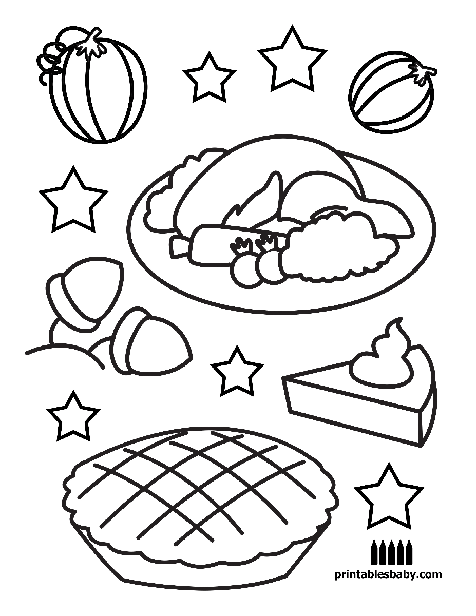 Thanksgiving | Printables Baby - Free Holiday Coloring Pages | Free ...
