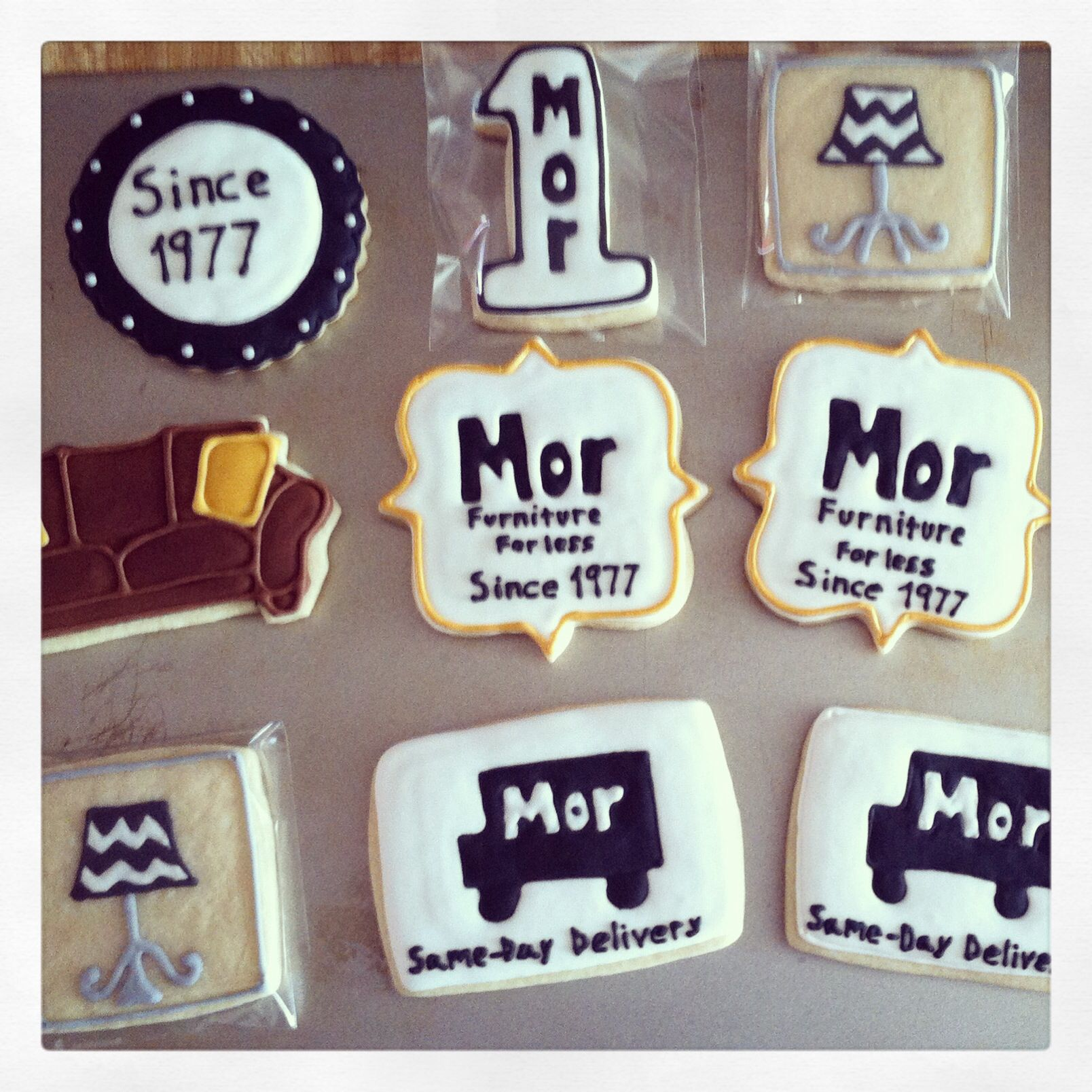 More Furniture For Less: Decorated Sugar Cookies For Mor Furniture For Less, The