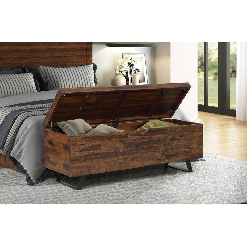 Southbridge Acacia Wood Storage Bench Reviews Allmodern Storage Bench Bedroom End Of Bed Bench Wood Storage Bench