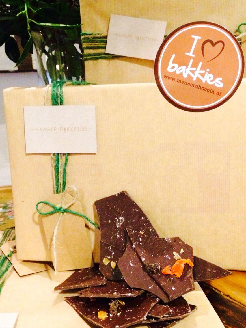 Meneer Chocola mag ook niet ontbreken in het Haagse Kerstpakket