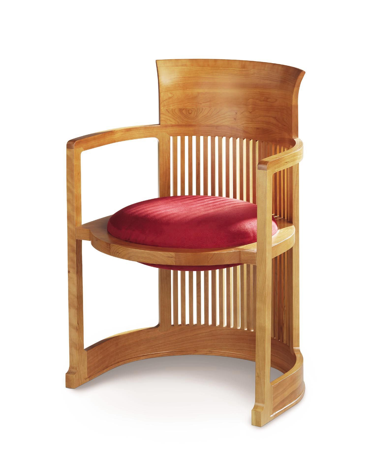 frank lloyd wright barrel chair for the darwin d martin house