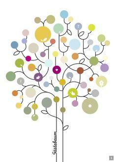 Schöner Lebensbaum ggf Für Taufe Taufe Pinterest