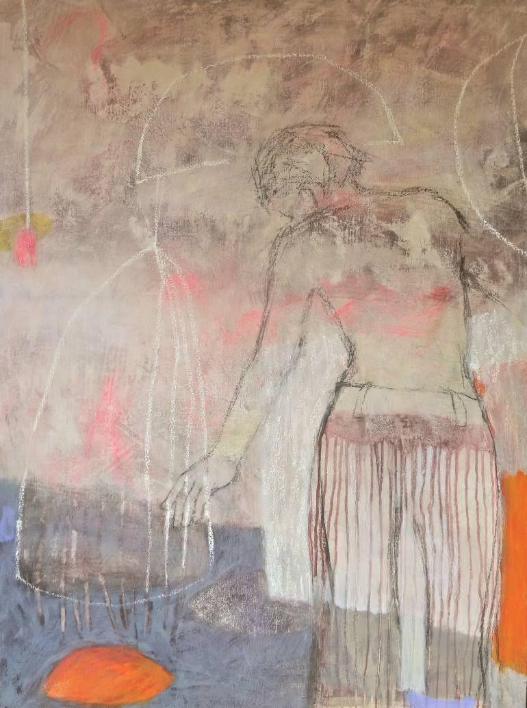 """Saatchi Art Artist Albane de saint remy; Painting, """"En équilibre"""" #art"""