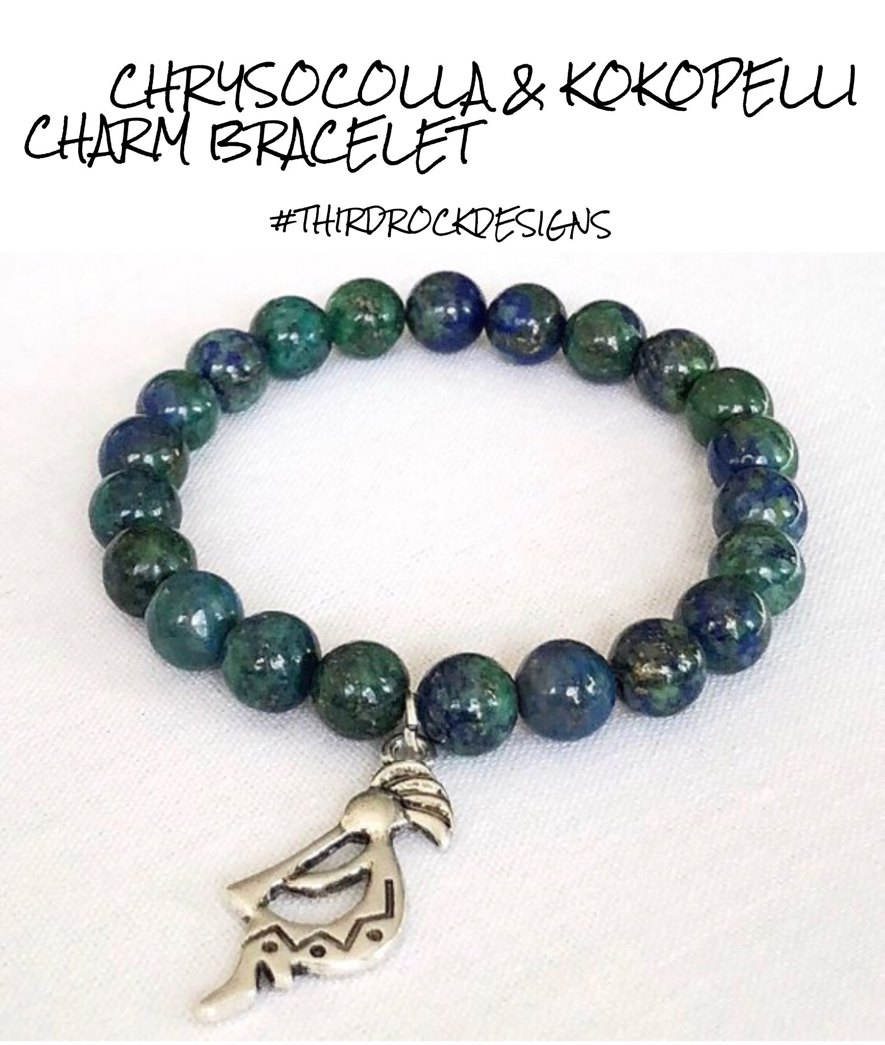 Awesome Bracelet With Good Vibes Carry The Amazing Energy Of Chrysocolla Kokopelli Everywhere You Go Custom Sizes Available Free Shipping On Domestic