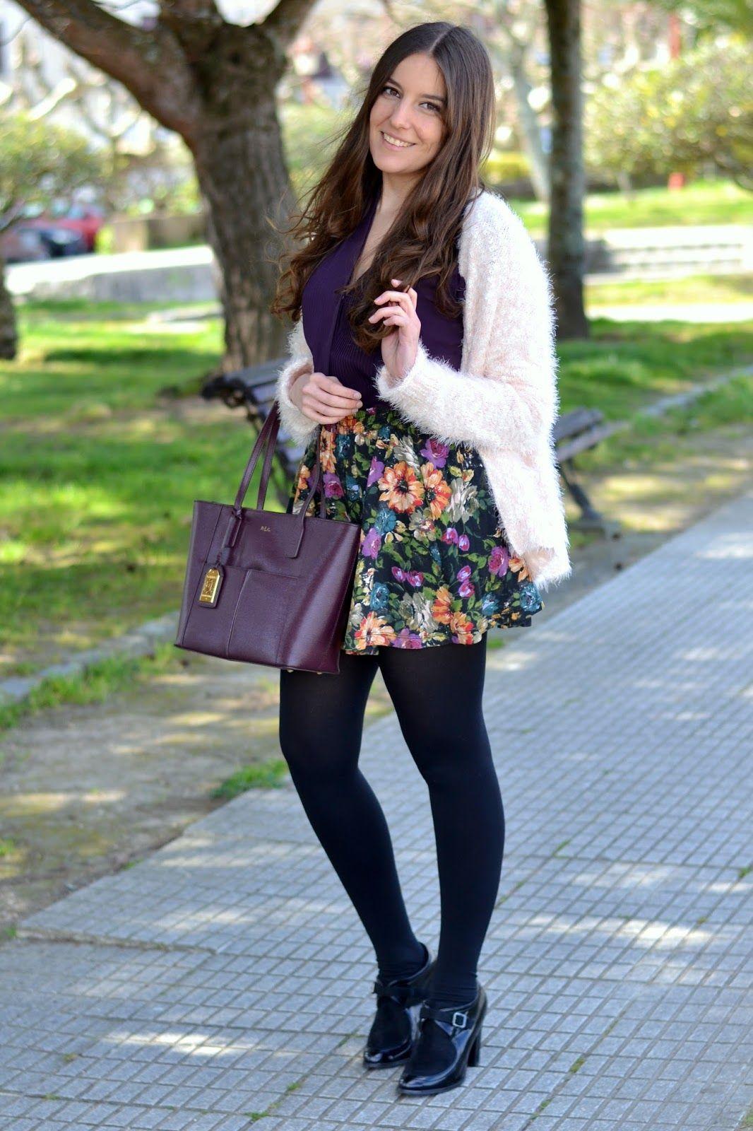 looks con falda de flores