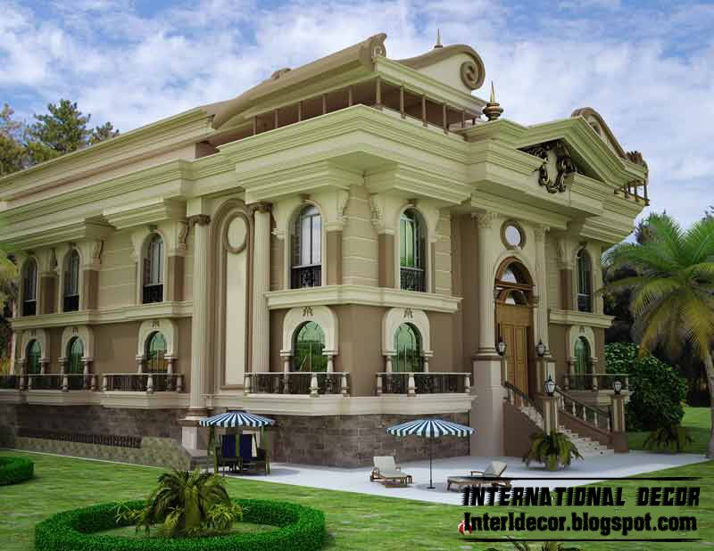 K t qu h nh nh cho luxury classic villa design for Villas exterior design pictures