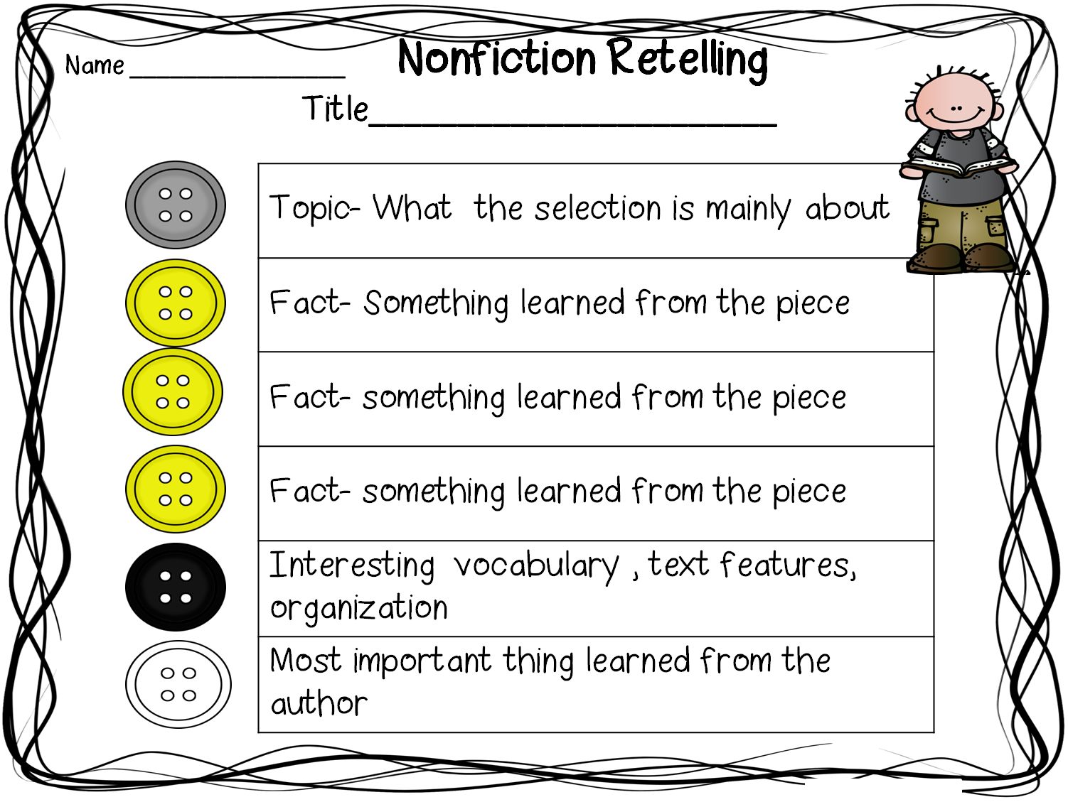 First Grade Wow: Retelling Fiction and Nonfiction... | 1st-2nd grade ...