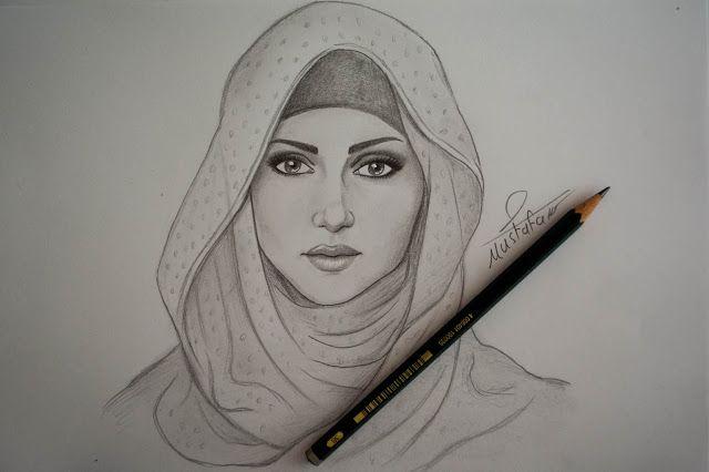 تعلم رسم فتاة محجبة بالرصاص Pencil Art Drawings Art Drawings Art Drawings Sketches Simple