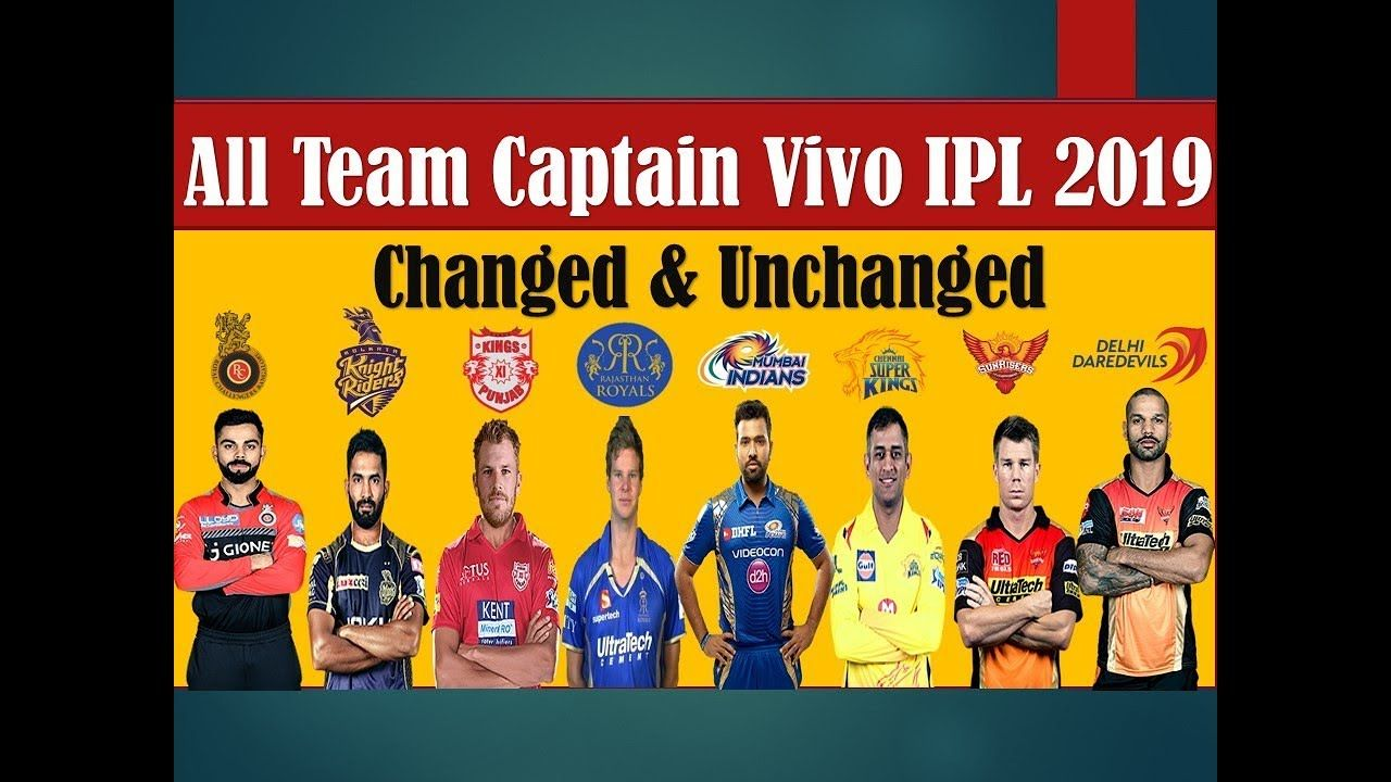 IPL 2019 All Team Captains List All Teams Captain Name