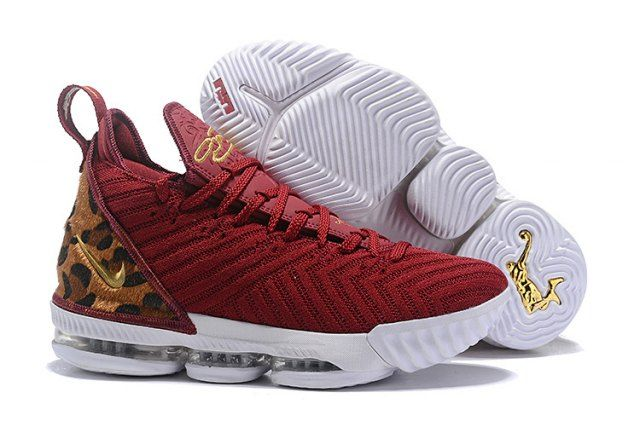 00ed2021b53a Nike LeBron 16 Men s Basketball Shoes Wine Red Gold  DC004764 in ...