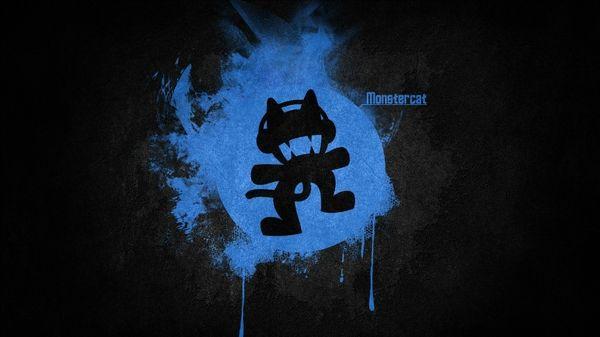 Blue Black Music Logos Simple Monstercat Electronic Music Wallpaper Music Wallpaper Electronic Music Black Music