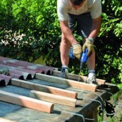 construire un auvent en bois sur poteaux ma onn s tutoriel auvent poteau et auvent bois