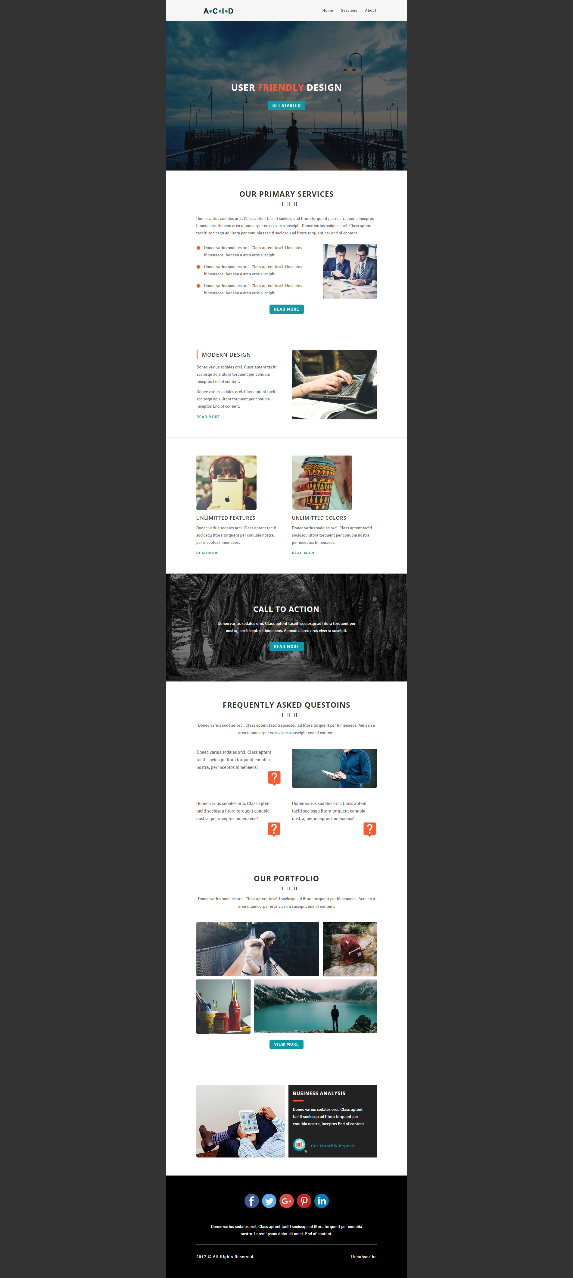 design editable responsive HTML email template newsletter