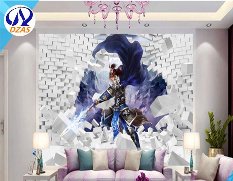 Terkeren 21 Wallpaper Dinding 3d Karakter Di 2020 Mural Kertas Dinding Karakter 3d