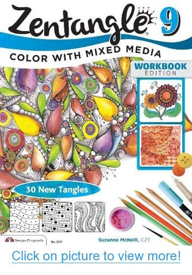 zentangle 9 adding beautiful colors with mixed media design originals