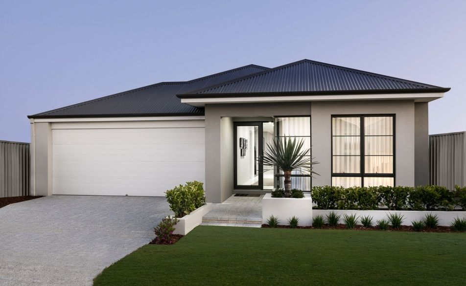ultra modern rendered elevation with stylish windows and colorbond roof door colors ideas in