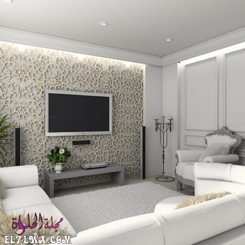 ديكورات جبس جدران 2021 هي ديكورات متميزة للغاية من أجل مواكبة آخر تطورات الديكور Accent Walls In Living Room Grey Accent Wall Living Room Home Theater Seating
