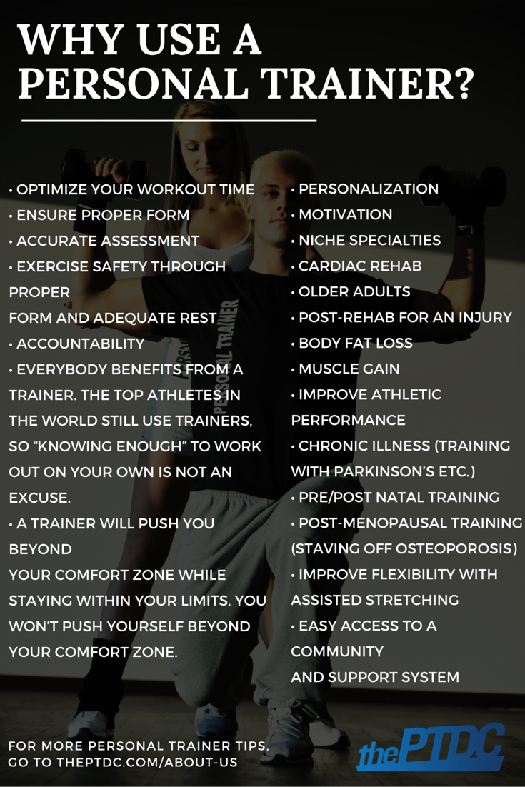 Why use a personal trainer? Learn more tips at theptdc.com/about-us #fitnessaboutus