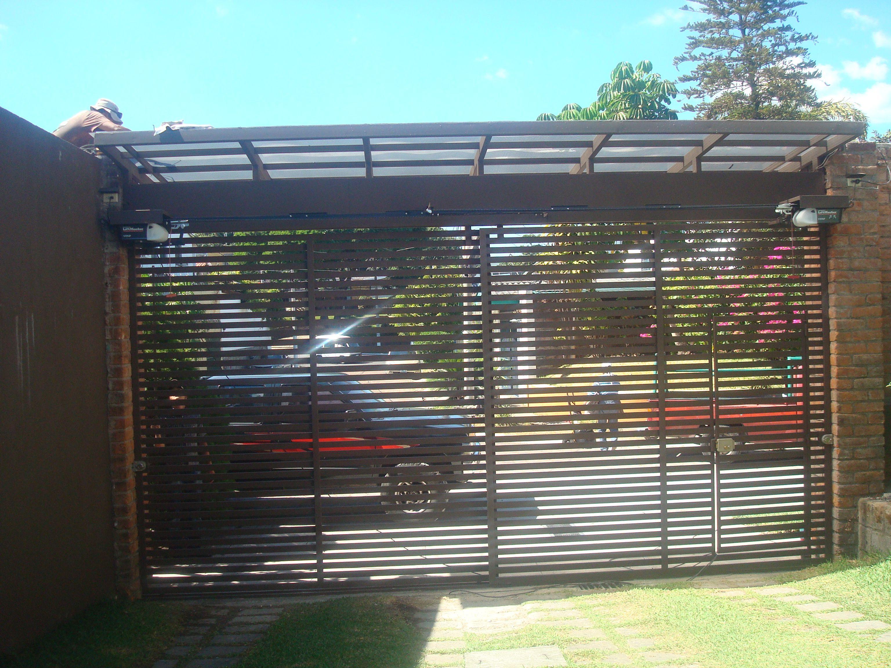 Porton de rejas horizontales puertas de cochera - Herreria ark ...