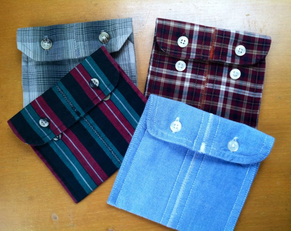 More shirt cuff pouches, this time sewn together for double width.