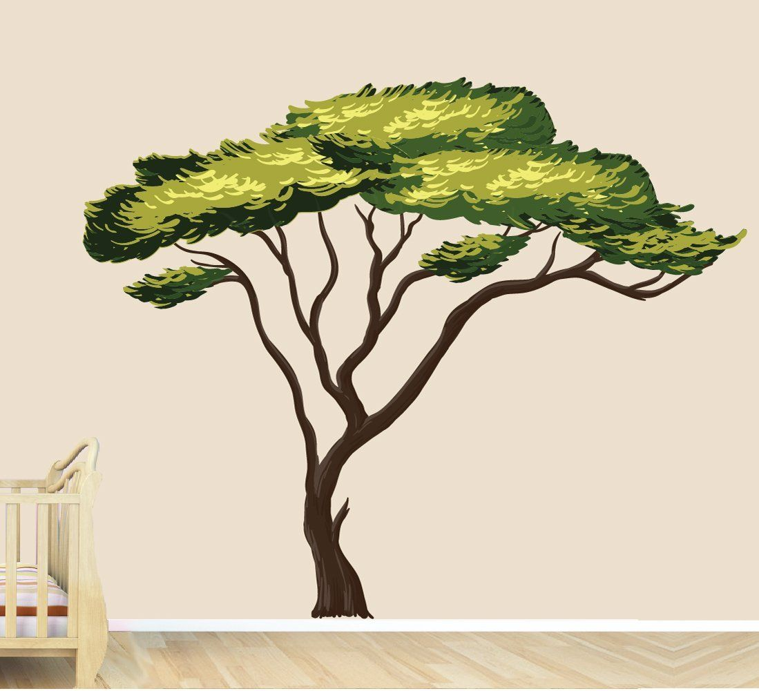 Amazon.com: Safari Tree Decal, African Tree Decal, Jungle Stickers: Home & Kitchen