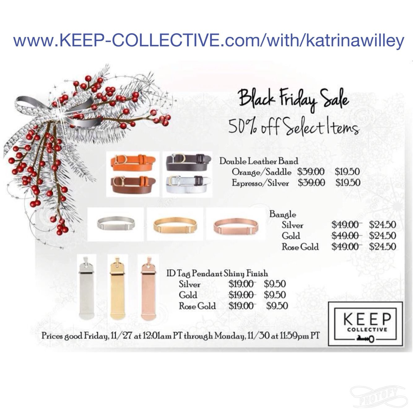 Black Friday sale! Keep collective www.keepcollective.com/with/katrinawilley #giftsforthosethsthaveeverything #halfpricejewelry #blackfriday