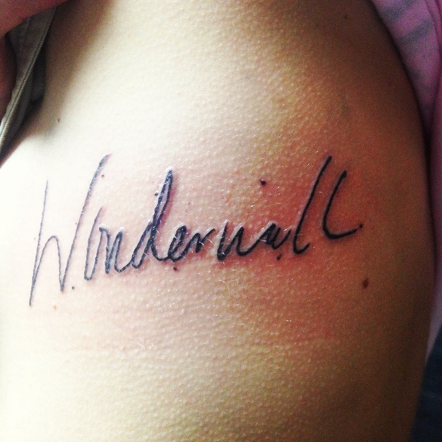 tattoo wonderwall tattoos pinterest wonderwall tattoo and piercings. Black Bedroom Furniture Sets. Home Design Ideas