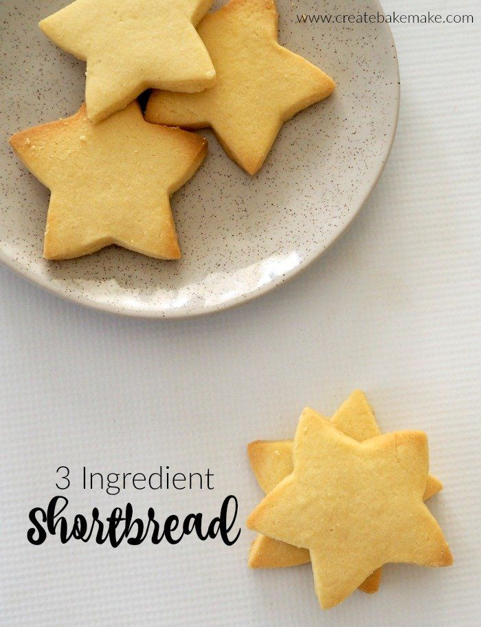 Photo of Easy 3 Ingredient Shortbread Recipe