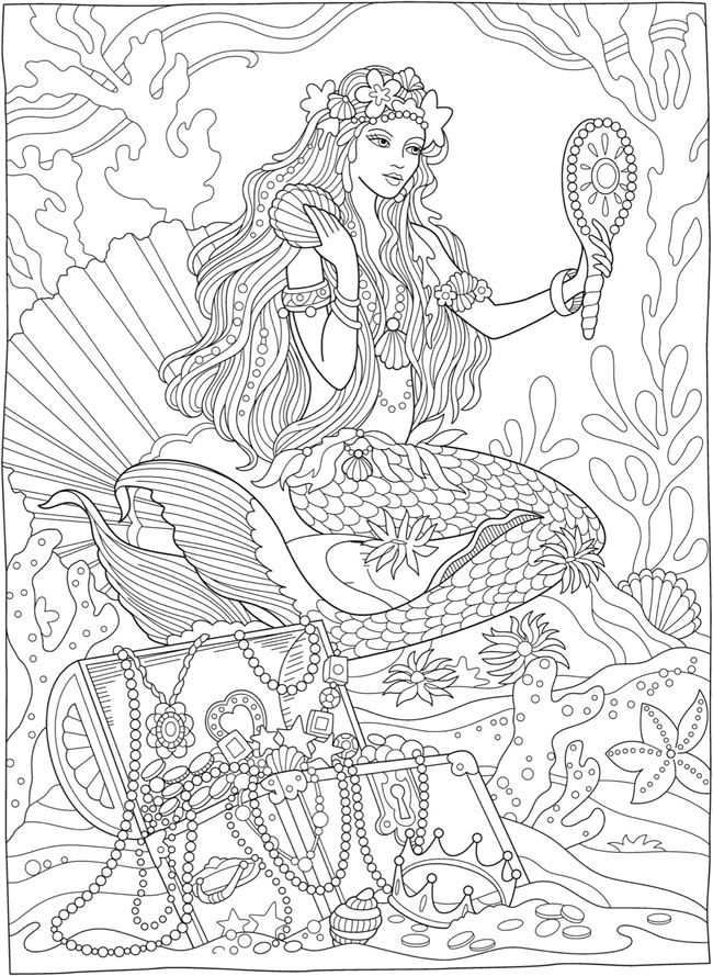 Welcome To Dover Publications Mermaid Coloring Pages Mermaid Coloring Book Mermaid Coloring