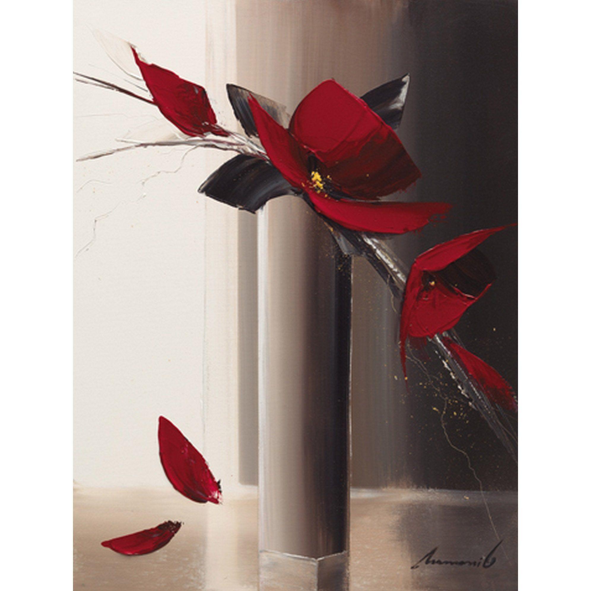 Affiche Bouquet Rouge I L 40 X H 30 Cm En 2020 Peinture Arbre