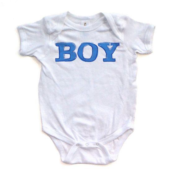 Boy Design Print Baby Infant Bodysuit One Piece Body by apericots