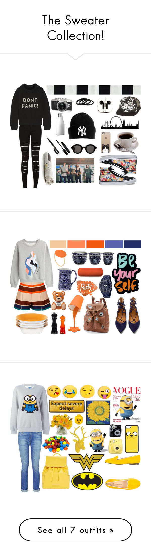 """""""The Sweater Collection!"""" by stella-black ❤ liked on Polyvore featuring Marc by Marc Jacobs, PhunkeeTree, Vans, Casetify, Furla, Elizabeth Arden, Mykita, MSGM, Carven and Mudd"""
