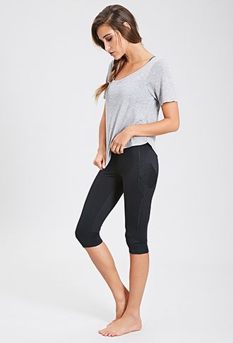 Side Pocket Performance Capris | FOREVER21 - 2052451755 ...