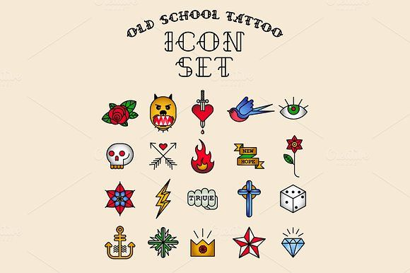Old School Tattoo Icons Icons And Icon Icon