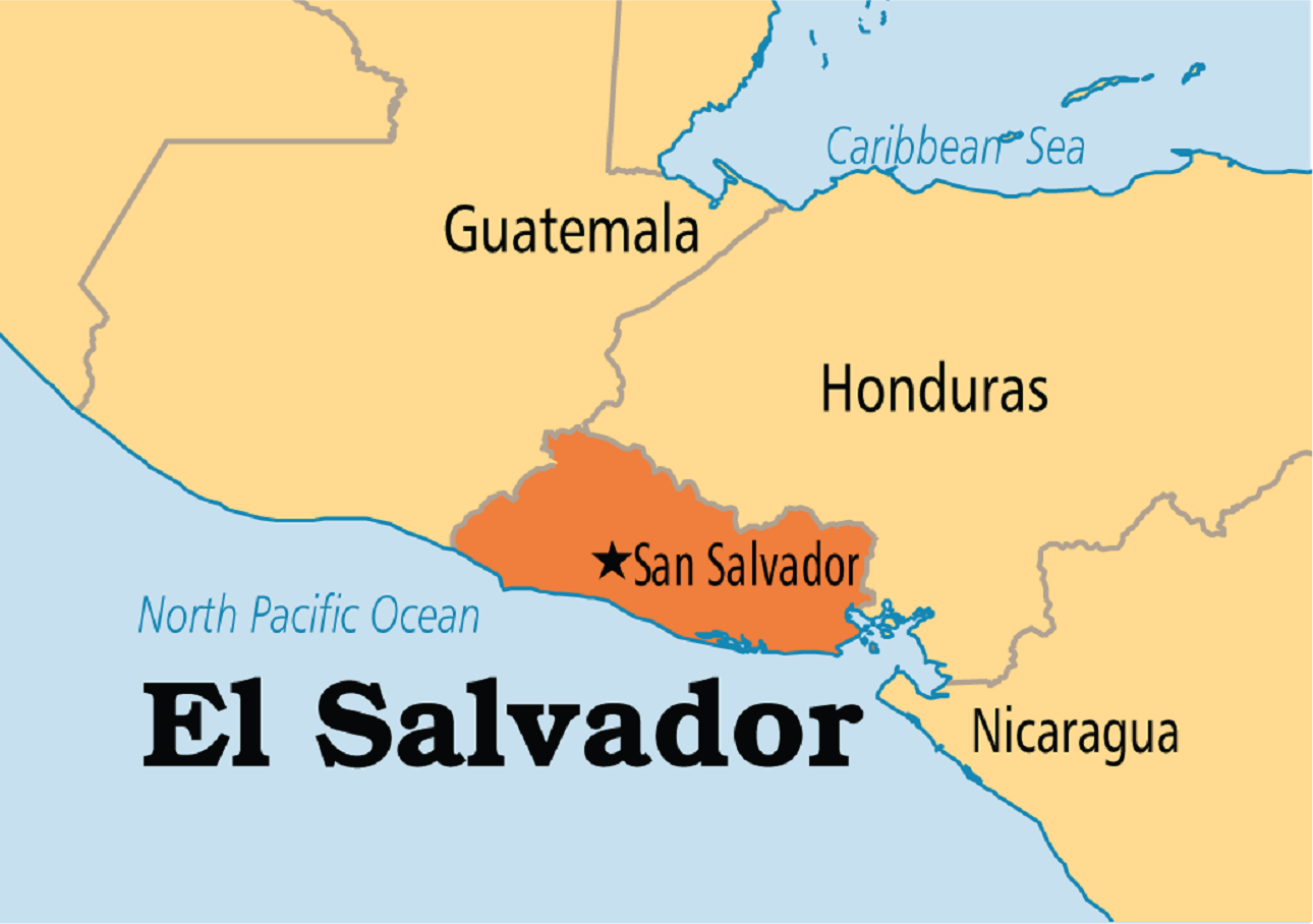 El Salvador Map El Salvador & Latin stuff Pinterest