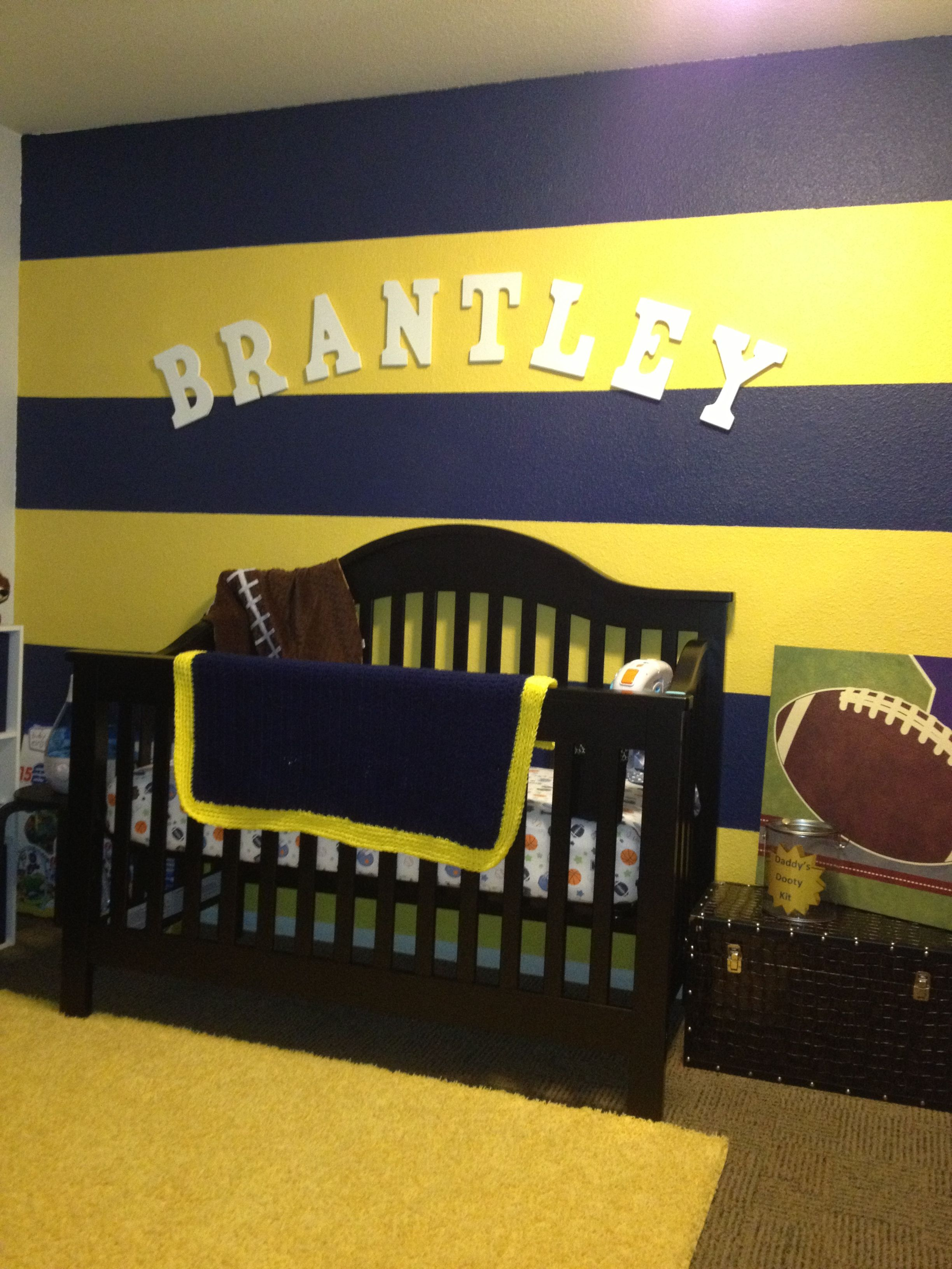 University Of Michigan Colors Nursery Awesome I Like This For An Accent Wall Then Pain The Others A Coordinating Neutral