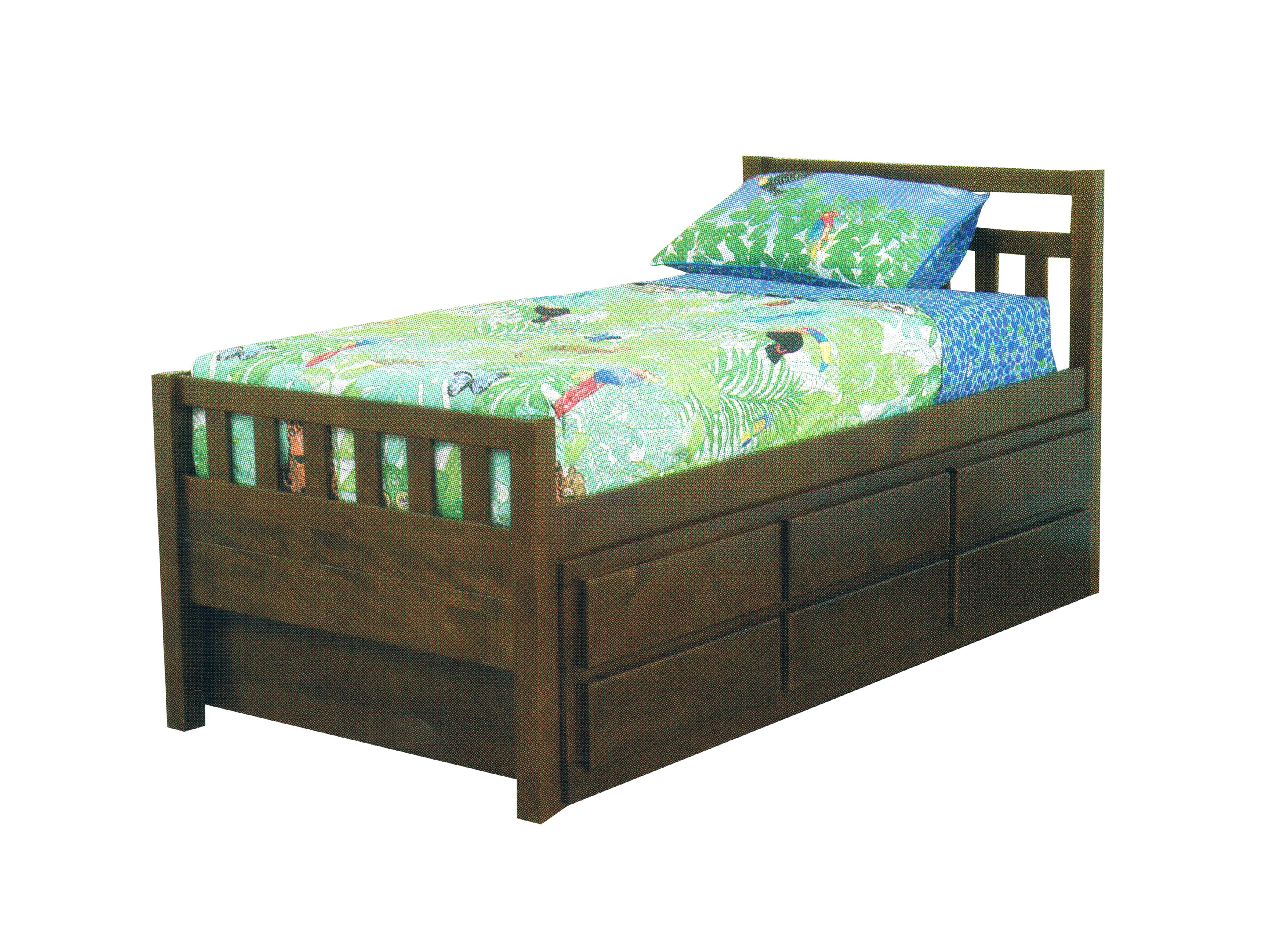 """""""Kruz"""" King Single Captain Bed with Trundle & Drawers"""