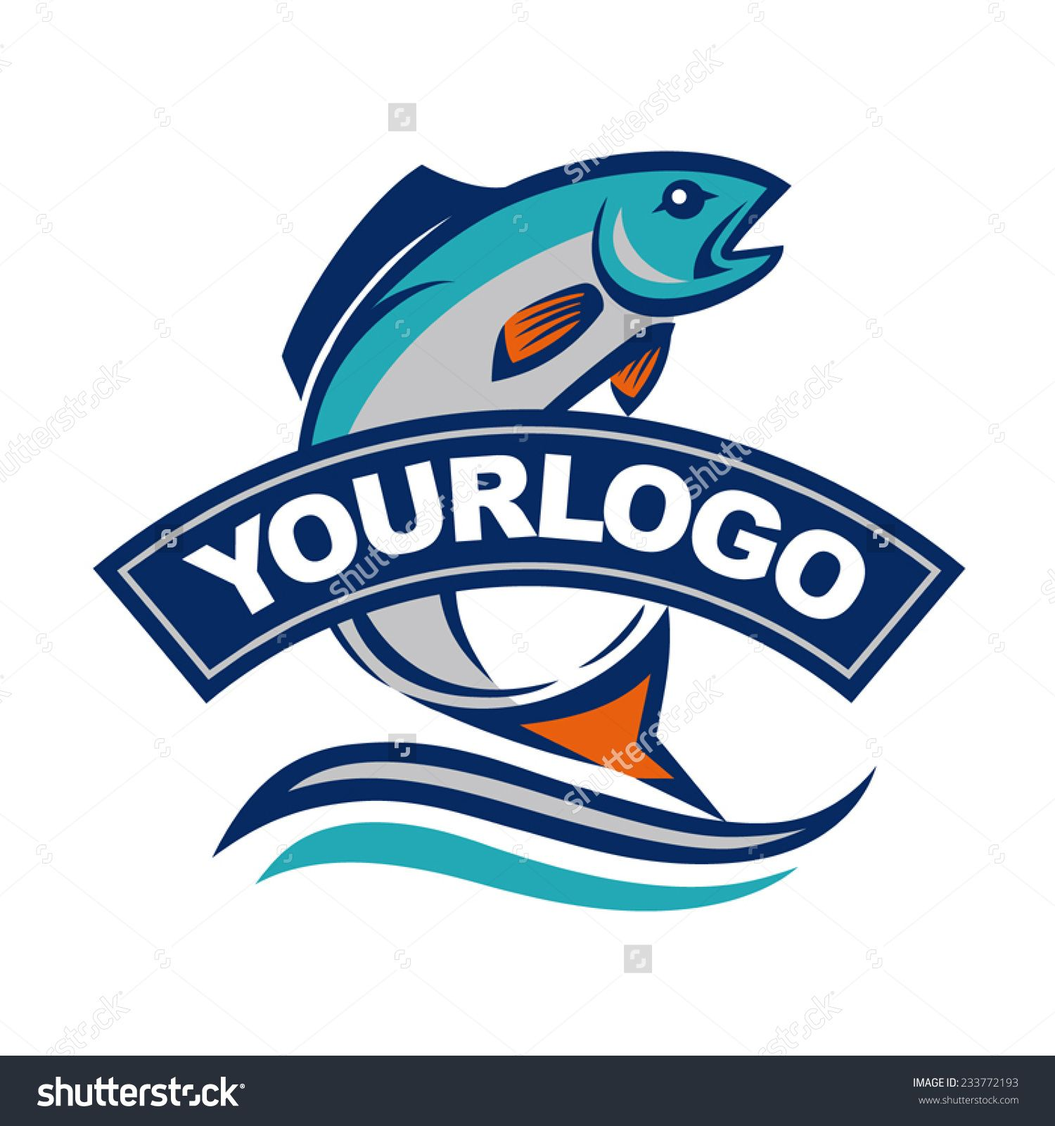 Fish Vector Design Logo Template. Seafood Restaurant Idea