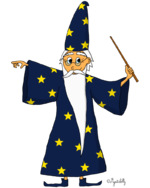 dessin le magicien