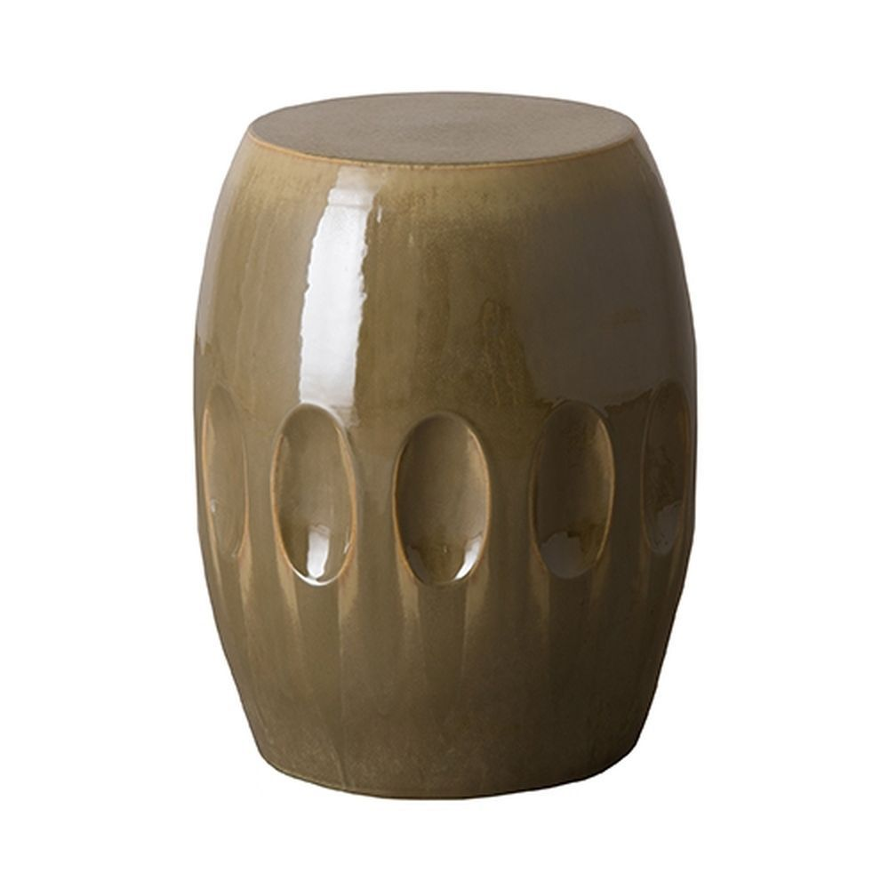 Earth Brown Orion Ceramic Garden Stool - Seven Colonial | Garden ...